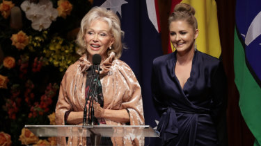 Bob Hawke's widow Blanche d'Alpuget and granddaughter Sophie Taylor-Price.