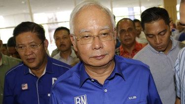 Defeated Malaysian Prime Minister Najib Razak.
