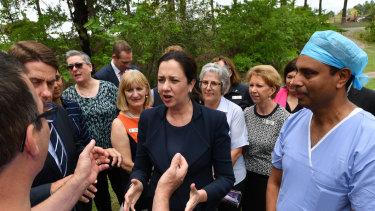 Queensland Premier Annastacia Palaszczuk announced a major upgrade to Logan Hospital during the 2017 state election campaign.