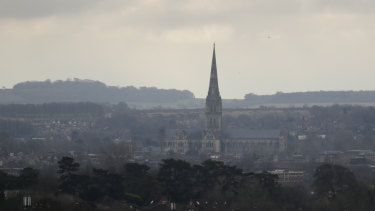 Salisbury Cathedral in Salisbury, England.