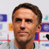 Phil Neville, the current England women's coach whose contract expires next year, has been linked to the vacant Matildas job.