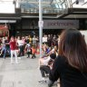 Flash mob breaks out in Brisbane's Queen Street Mall for marriage proposal
