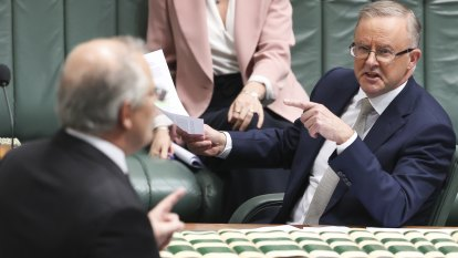 Things get personal and political between Morrison and Albanese