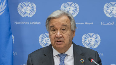 UN Secretary General António Guterres says the even distribution of vaccines is an obscenity.