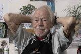 Guy Warren in his studio