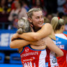Some tears and vulnerability swiftly brought Super Netball frontrunners together