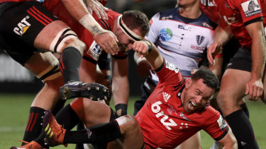 Out: The influential Ryan Crotty is a huge loss for the Crusaders.