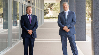 Minderoo Foundation chair Andrew Foreest and chief executive Steve Burnell.