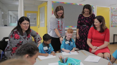 Education Minister Grace Grace (left), pictured with Premier Annastacia Palaszczuk (right), is urging more people to become teachers.