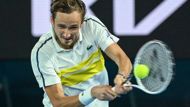 Daniil Medvedev proved too good for Stefanos Tsitsipas in their semi-final on Friday night.
