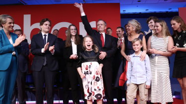 "The ""united Labor team"" at Labor's official campaign launch in Brisbane on Sunday."