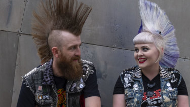 Brisbane punk Sheina Thomas and her partner Chris Hockey.