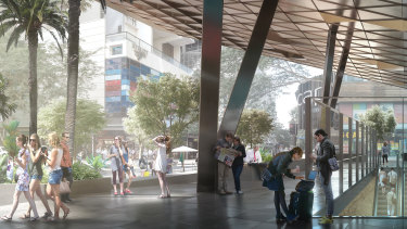 A design concept of the Cross River Rail project, which the state government vowed to fund without federal help.