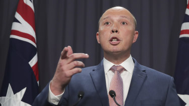 Minister for Home Affairs Peter Dutton.