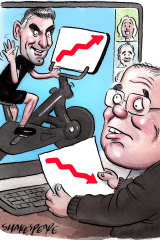 The PM had an online meeting with business bosses, including cycling fan and NAB chief executive Ross McEwan.