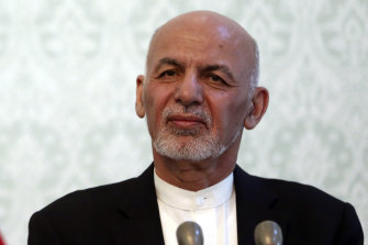 Afghan President Ashraf Ghani is one of two leading candidates seeking election.