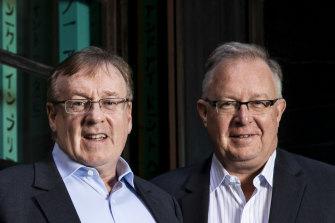 Judo Bank co-founders Joseph Healy and David Hornery, right.