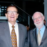 Collins with David Stratton.