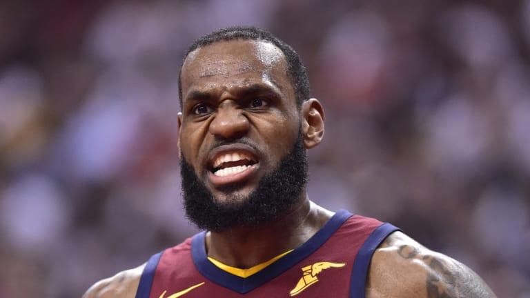 Fired up: NBA superstar LeBron James.