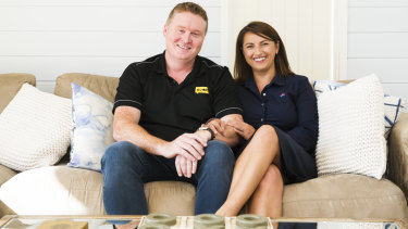 Outgoing chief executive of R U OK? Brendan Maher at home in Gordon with his partner Tanya Senior.