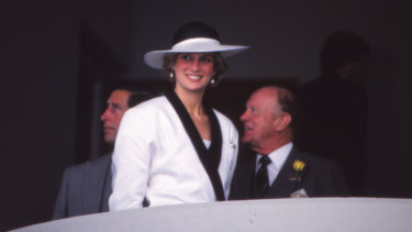 Princess Diana at the Melbourne Cup in 1985.