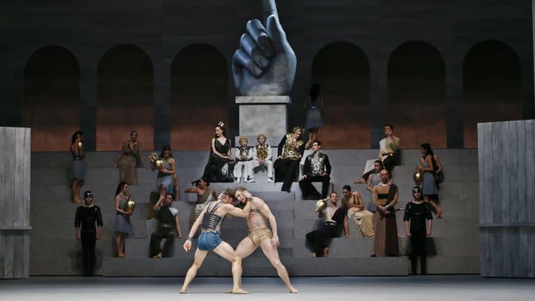 Australia's first Australian Ballet performance of Spartacus in Melbourne.