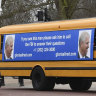 Yellow bus stunt urges Prince Andrew to speak to FBI