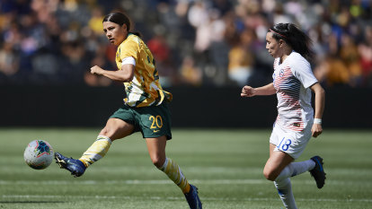 Kerr at the double to give Matildas victory over Chile