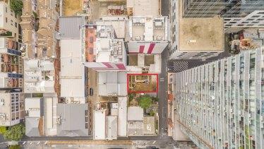 The handkerchief site at 9-11 Exploration Lane, Melbourne.