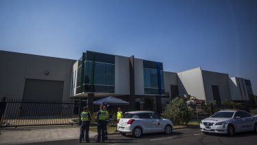 A suspected toxic factory site in Craigieburn is being watched by security 24 hours a day.