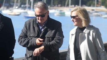 Barrister Margaret Cunneen SC alongside NSW One Nation leader Mark Latham.