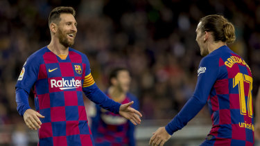 Argentine superstar Lionel Messi (left) is on a great wicket at Barcelona FC.