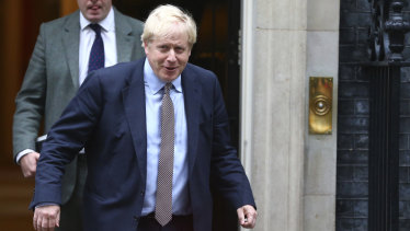 Britain's Prime Minister Boris Johnson leaves 10 Downing Street.