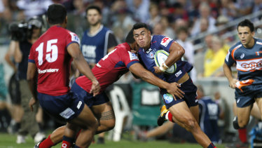 Game time: Semisi Tupou makes his debut with Melbourne Rebels on Friday.
