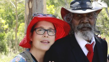 """""""I came to love David"""": director Molly Reynolds with David Gulpilil while making My Name Is Gulpilil."""