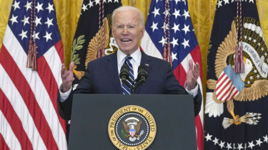 Biden said the plan would allow the US to beat China and tackle the climate crisis.