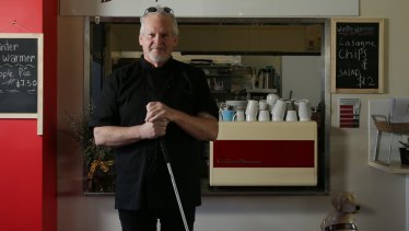 Ian Edwards, owner of The Blind Chef Bistro at Boolaroo Bowling Club.