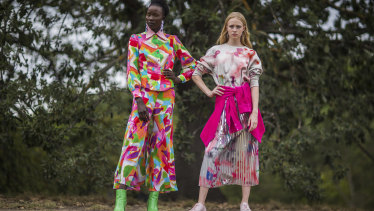 Models sporting Gorman fashions.