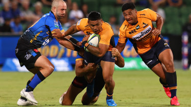 Brumbies centre Len Ikitau was outstanding in his team's opening round win over the Western Force.