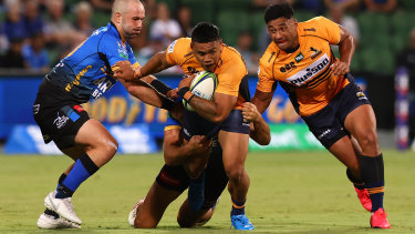 Pub-goers were unable to watch the Brumbies' win over the Force on Friday night.