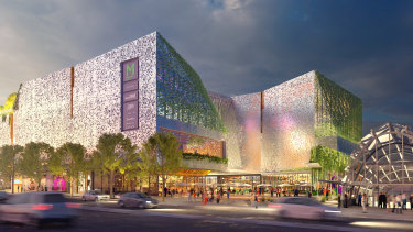 An artist's impression of the proposed redevelopment of the Macquarie Centre.