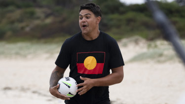 Latrell Mitchell is one of the stars featured in the NRL's new Simply The Best marketing campaign.
