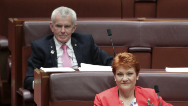 One Nation senators Malcolm Roberts and Pauline Hanson also voted to repeal the legislation.