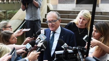 Chris Dawson's lawyer Greg Walsh addresses the media after the bail application.