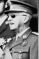 Then Spanish leader Francisco Franco in 1971.
