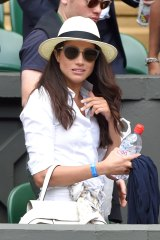 Meghan, Duchess of Sussex, was on board with the trend at Wimbledon in June.