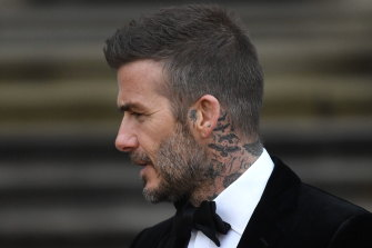 David Beckham was spotted on the way to a tattoo parlour.