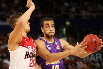 Xavier Cooks playing for the Sydney Kings this past season.