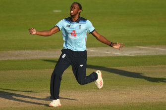 Jofra Archer's hold over Australian opener David Warner continued when he was dismissed for six.