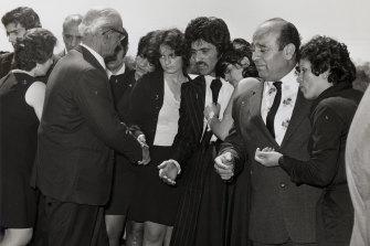 The Fahd family funeral at Rookwood in 1975.